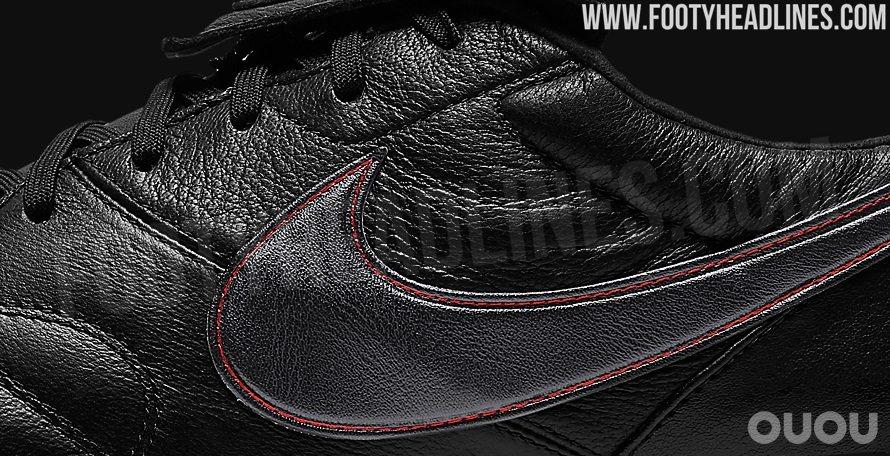 经典的黑/红配色,耐克Premier II Anti-Clog战靴谍照曝光