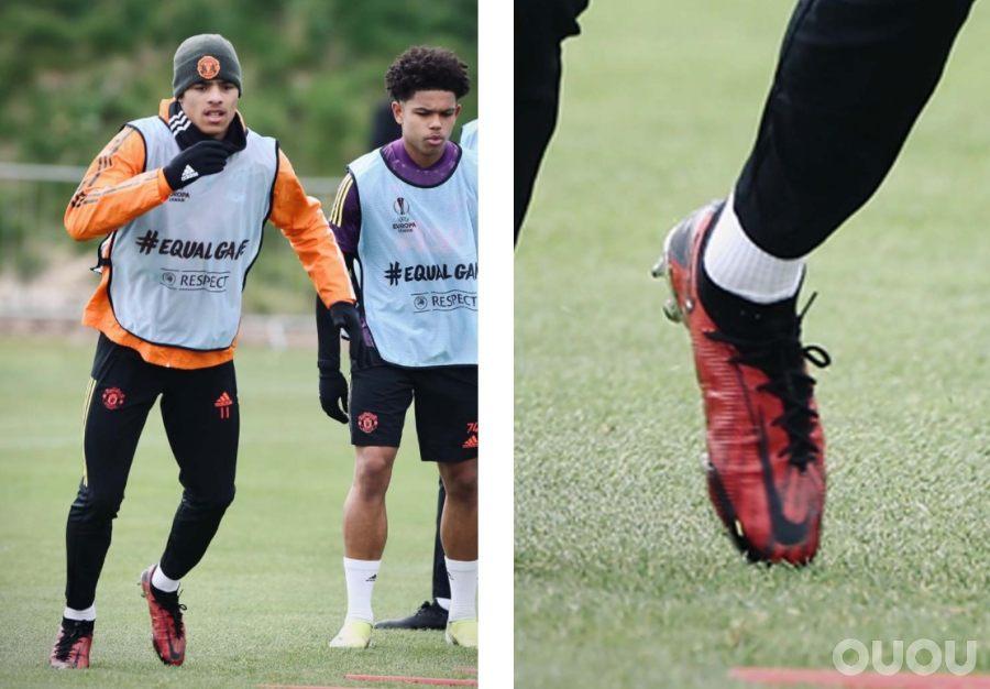 格林伍德在训练中上脚未发布配色 Nike Phantom GT