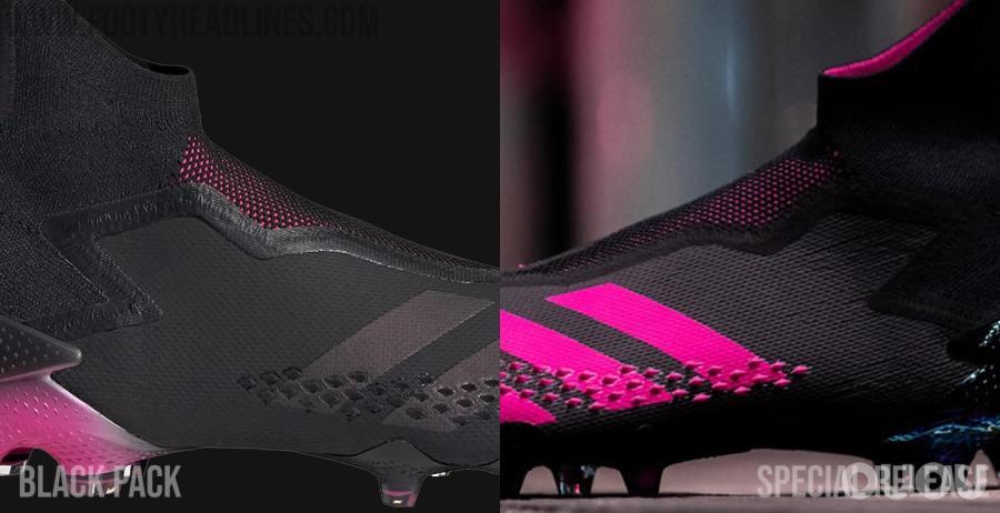 哪款更好?两款黑/粉配色Predator 20+对比