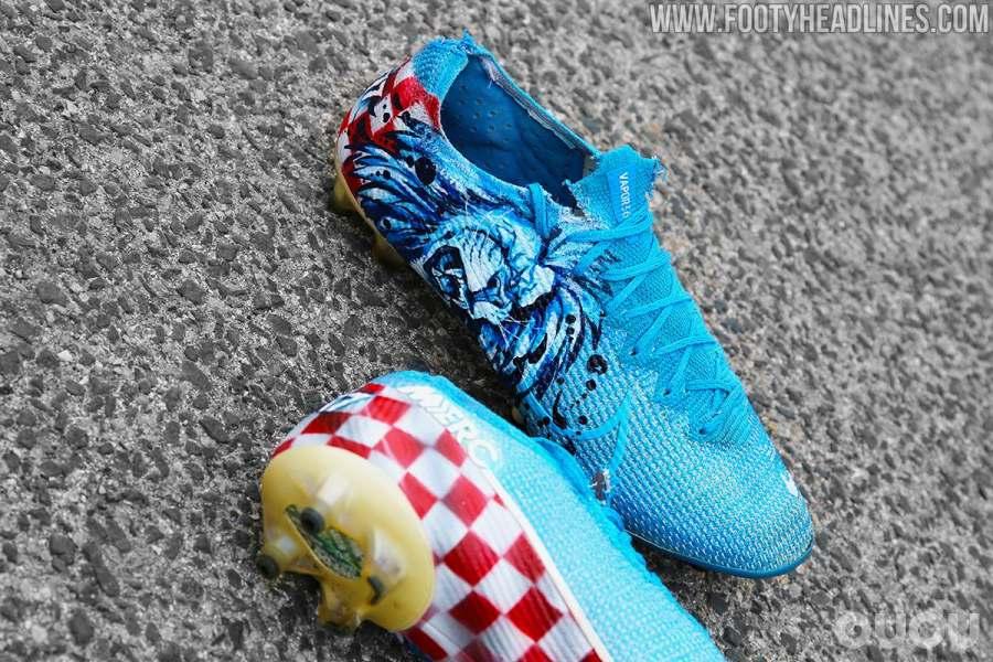 科瓦契奇上脚特别涂鸦版Nike Mercurial Vapor 13