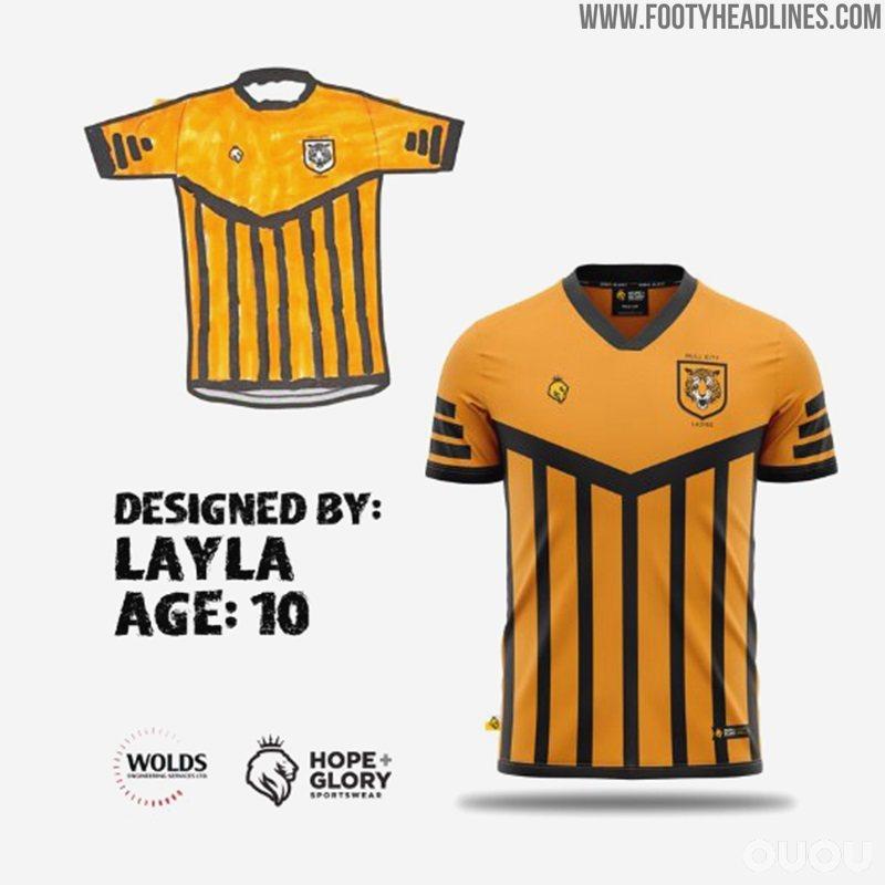 来自孩子们的设计――入围决赛的四款赫尔城女足2020-21赛季主场球衣设计
