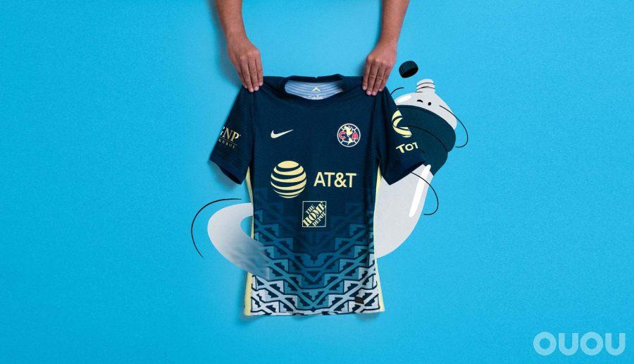 耐克发布美洲俱乐部21/22赛季客场球衣