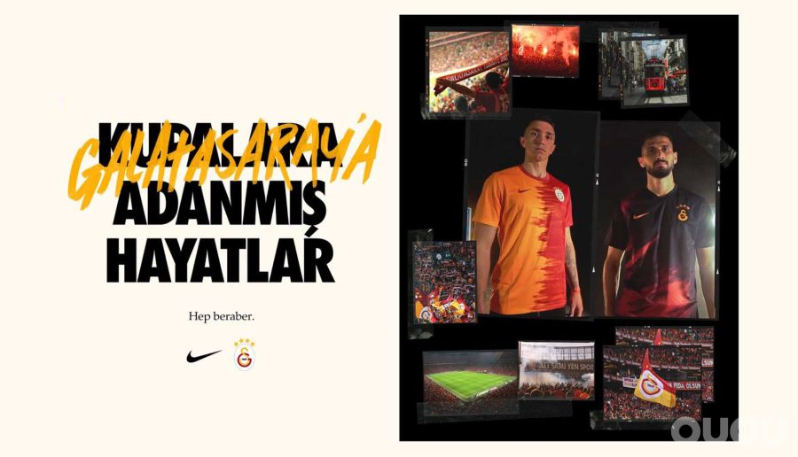 加拉塔萨雷发布20/21赛季耐克主客场球衣