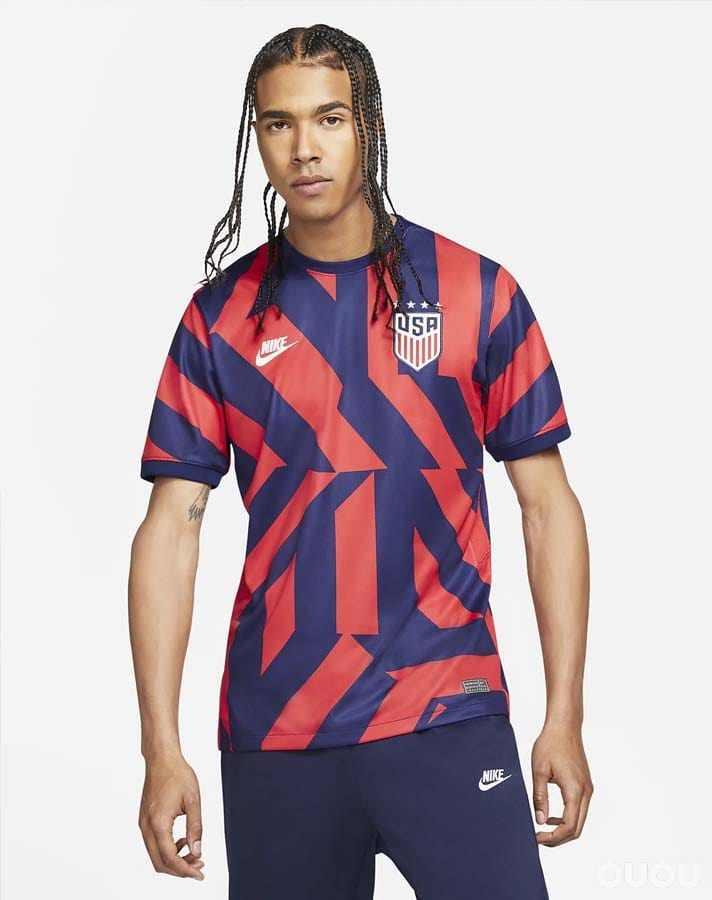 耐克发布美国2021/2022客场球衣