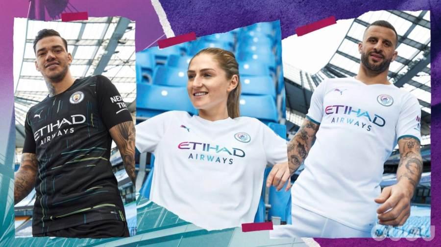 PUMA正式发布2021-22赛季曼彻斯特城队全新客场球衣套装