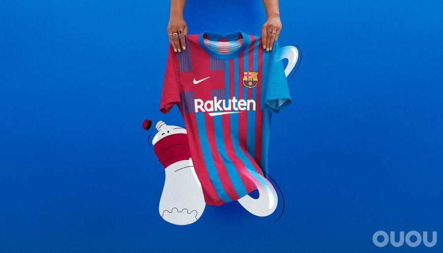 耐克推出巴塞罗那21/22赛季主场球衣