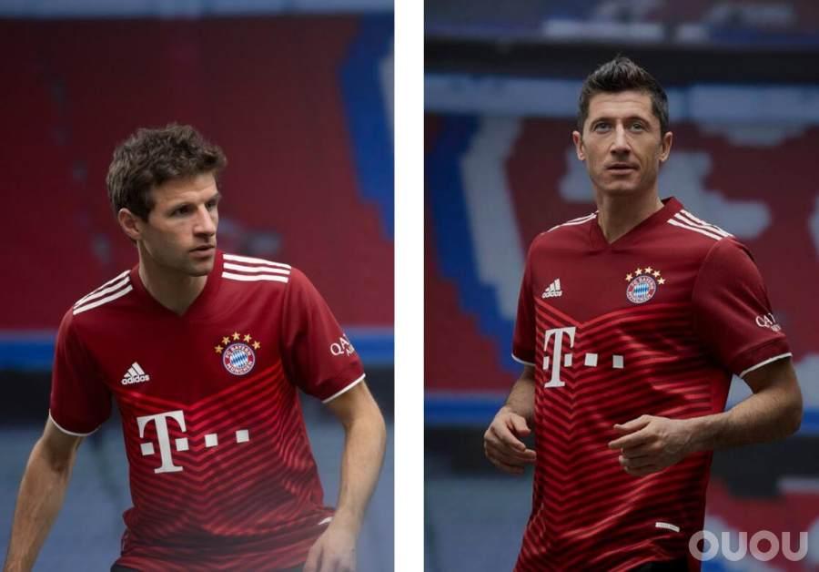 阿迪达斯发布拜仁慕尼黑2021/2022赛季主场球衣