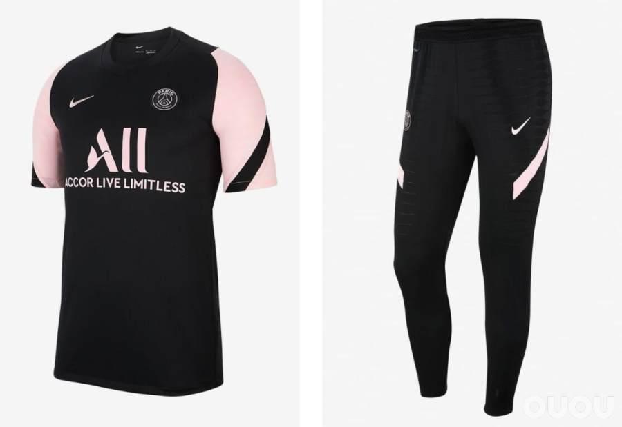 细品耐克PSG2021/2022赛季客场版训练和时尚套装系列