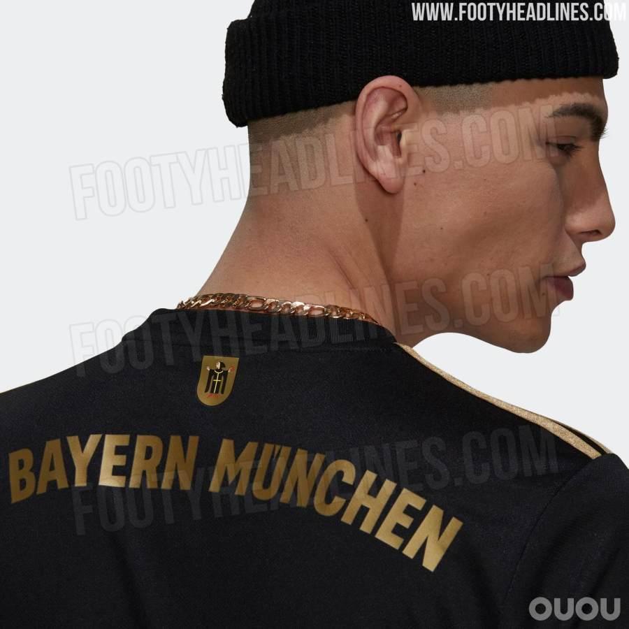 拜仁慕尼黑2021/2022赛季客场球衣官图曝光