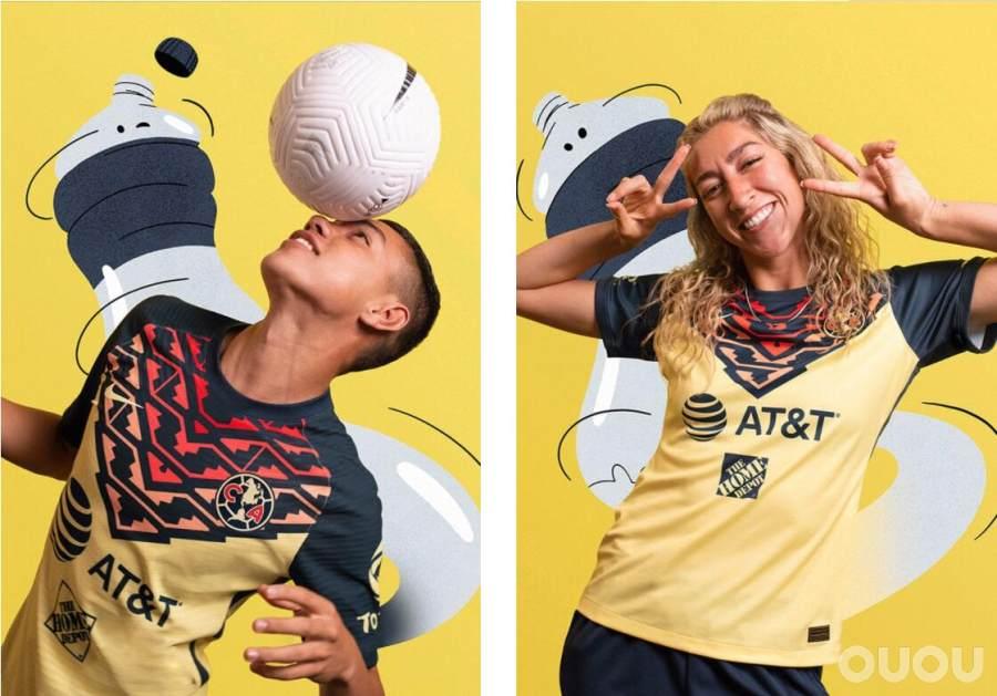 耐克发布美洲俱乐部21/22赛季主场球衣