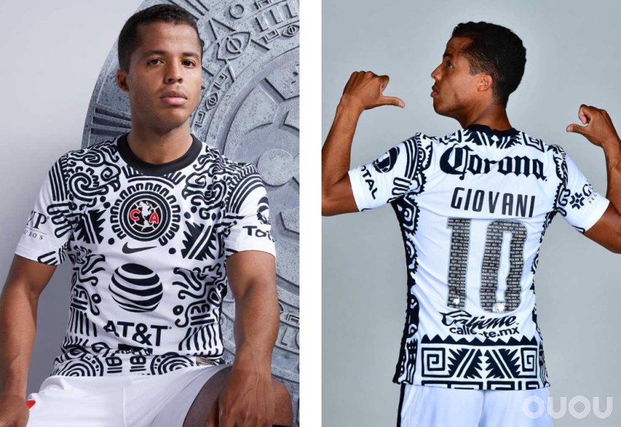 耐克发布墨西哥美洲足球俱乐部第二客场球衣