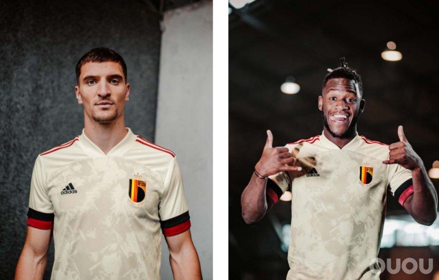阿迪达斯发布比利时20/21客场球衣