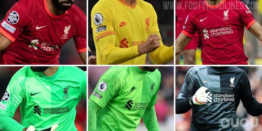 NIKE与SWOOSH球员装备相匹配的利物浦守门员装备