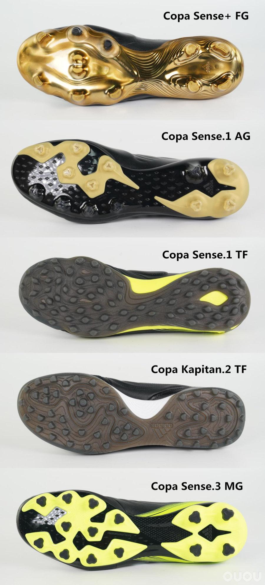 除了真皮还有什么?阿迪达斯Copa Sense全等级横向对比